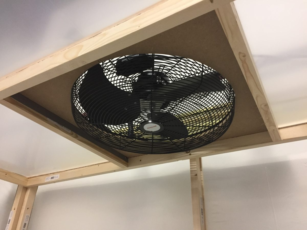 Paintbooth fan and filters