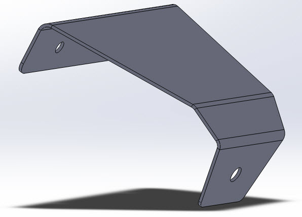 Bend radius / SolidWorks / more brackets
