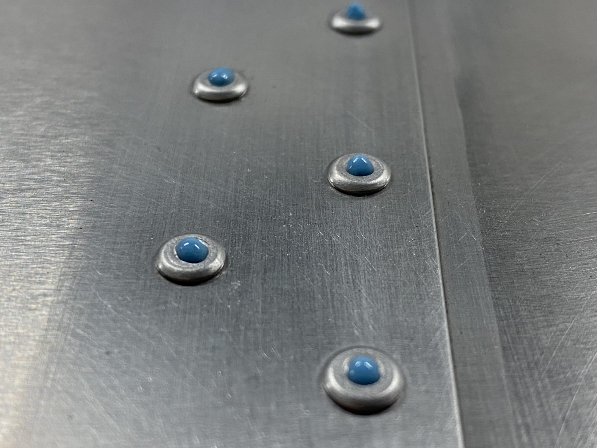 Rivet filling with SuperFil